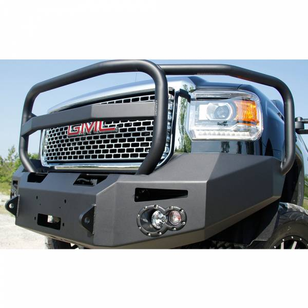 Fab Fours - Fab Fours GM14-A3150-1 Winch Front Bumper with Full Guard for GMC Sierra 2500/3500 2015-2019
