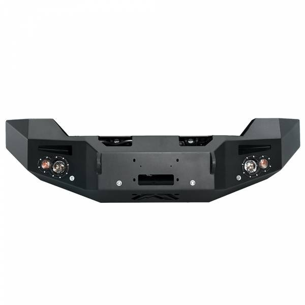 Fab Fours - Fab Fours GM14-C3151-1 Winch Front Bumper with Sensor Holes for GMC Sierra 2500/3500 2015-2019
