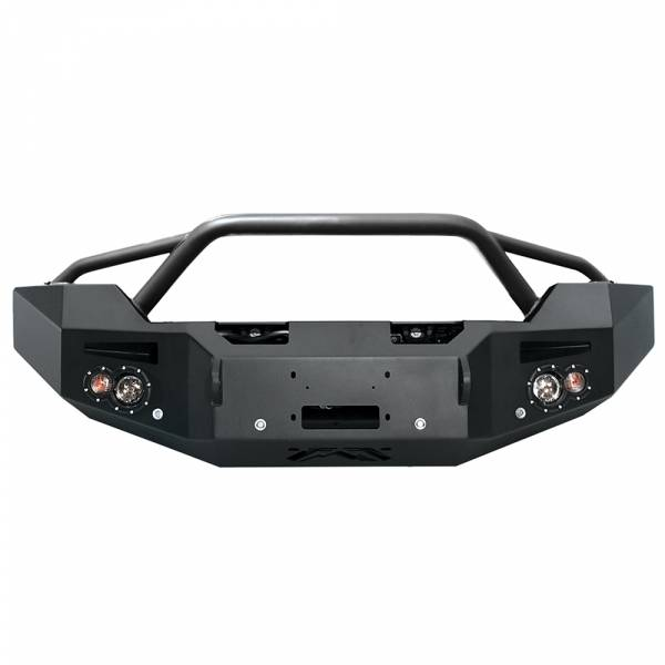 Fab Fours - Fab Fours GM14-C3152-1 Winch Front Bumper with Pre-Runner Guard and Sensor Holes for GMC Sierra 2500/3500 2015-2019