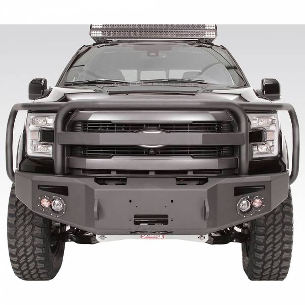 Fab Fours - Fab Fours FF15-H3250-1 Winch Front Bumper with Full Guard for Ford F150 2015-2017