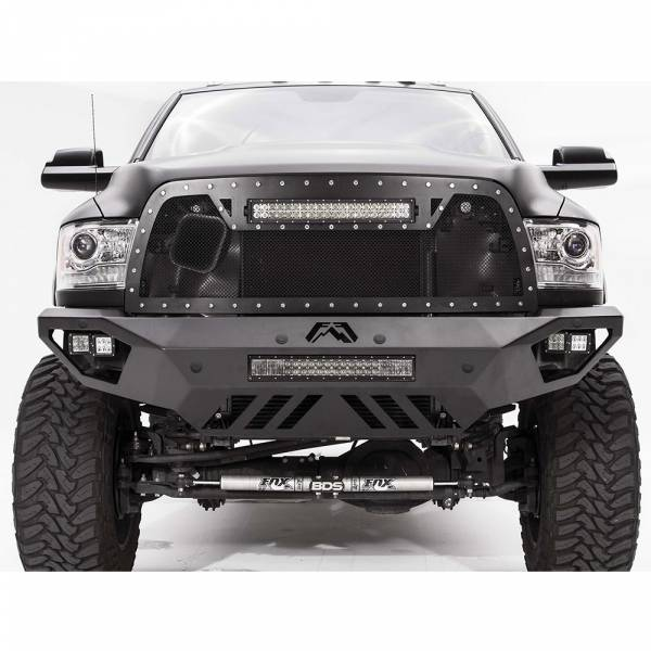 Fab Fours - Fab Fours DR10-V2951-1 Vengeance Front Bumper with Sensor Holes for Dodge Ram 2500/3500/4500/5500 2010-2018
