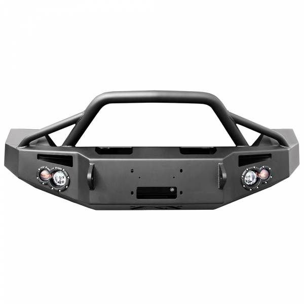 Fab Fours - Fab Fours DR13-H2952-1 Winch Front Bumper with Pre-Runner Guard for Dodge Ram 1500 2013-2018