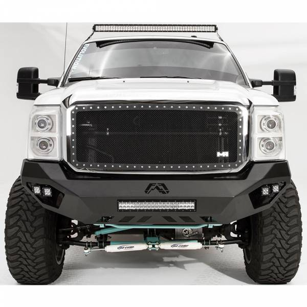 Fab Fours - Fab Fours FS11-V2551-1 Vengeance Front Bumper with Sensor Holes for Ford F250/F350 2011-2016