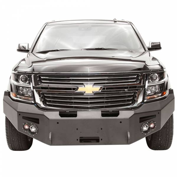Fab Fours - Fab Fours CS15-F3551-1 Winch Front Bumper with Sensor Holes for Chevy Suburban 2015-2019
