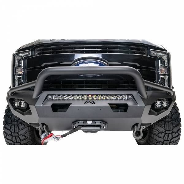 Fab Fours - Fab Fours FS17-X4152-1 Matrix Front Bumper with Pre-Runner Guard for Ford F250/F350 2017-2020