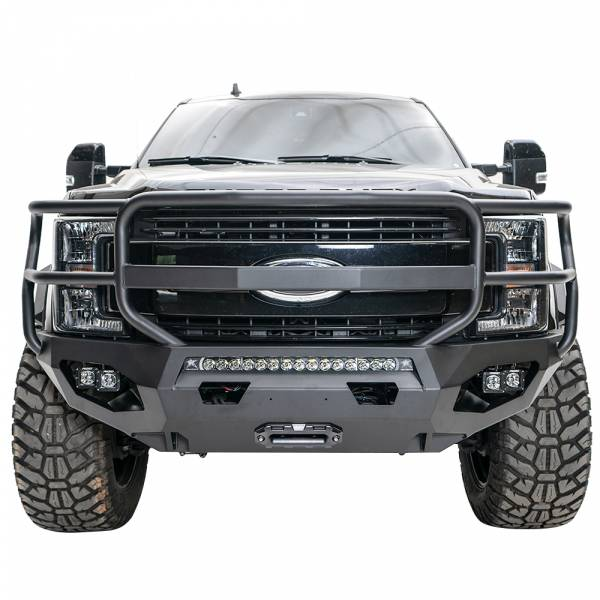 Fab Fours - Fab Fours FS17-X4150-1 Matrix Front Bumper with Full Guard for Ford F250/F350 2017-2020