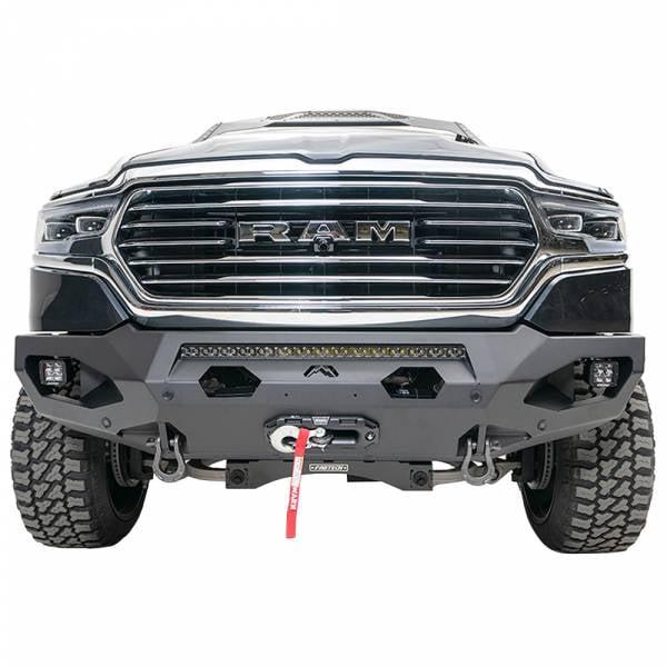 Fab Fours - Fab Fours DR19-X4251-1 Matrix Front Bumper with Sensor Holes for Dodge Ram 1500 2019-2020