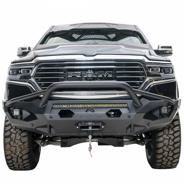 Fab Fours - Fab Fours DR19-X4252-1 Matrix Front Bumper with Pre-Runner Guard and Sensor Holes for Dodge Ram 1500 2019-2020