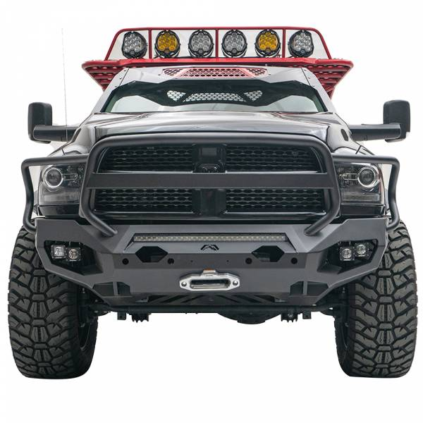 Fab Fours - Fab Fours DR10-X2950-1 Matrix Front Bumper with Full Guard and Sensor Holes for Dodge Ram 2500/3500/4500/5500 2010-2018