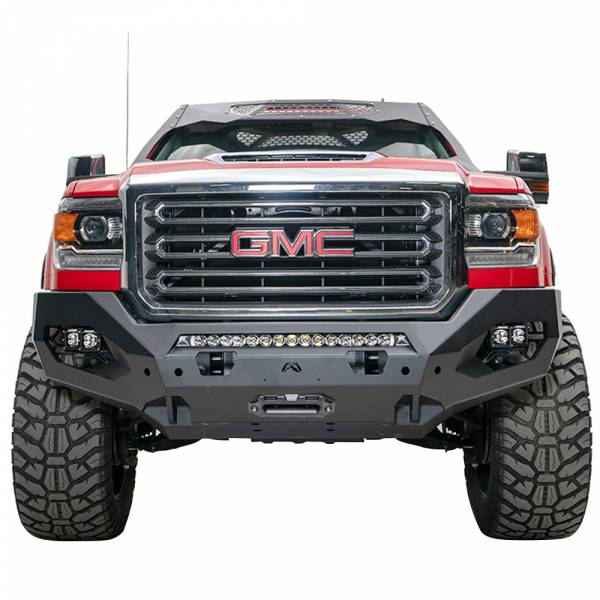 Fab Fours - Fab Fours GM15-X2851-1 Matrix Front Bumper with Sensor Holes for GMC Sierra 2500/3500 2015-2019