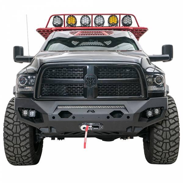 Fab Fours - Fab Fours DR19-X4451-1 Matrix Front Bumper with Sensor Holes for Dodge Ram 2500/3500 2019-2020