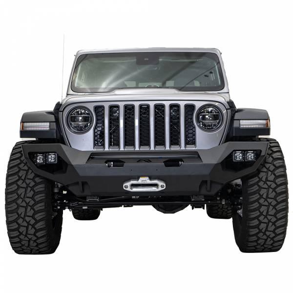 Fab Fours - Fab Fours JL18-X4651-1 Matrix Front Bumper for Jeep Wrangler JL 2018-2020