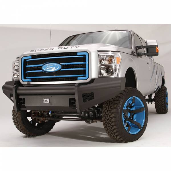 Fab Fours - Fab Fours FS11-Q2561-1 Black Steel Elite Smooth Front Bumper for Ford F250/F350/F450/F550 2011-2016