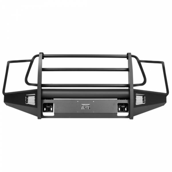 Fab Fours - Fab Fours TT07-R1860-1 Black Steel Elite Smooth Front Bumper with Full Guard for Toyota Tundra 2007-2013