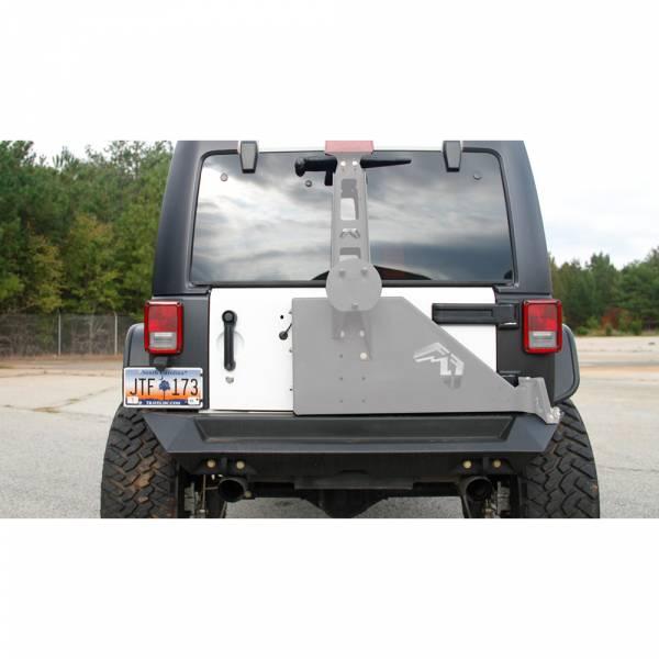 Fab Fours - Fab Fours JK07-Y1251-1 Premium Rear Bumper for Jeep Wrangler JK 2007-2018