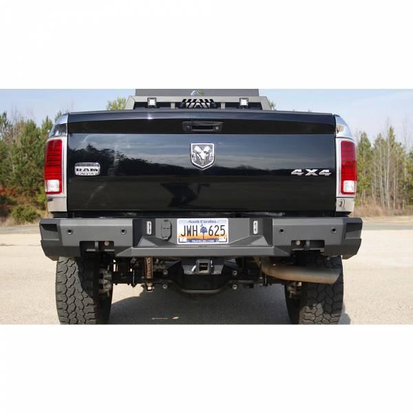 Fab Fours - Fab Fours DR09-W2952-1 Premium Rear Bumper with Sensor Holes for Dodge Ram 2500/3500 2009-2018