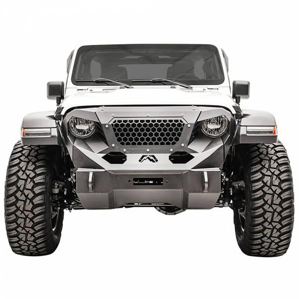 Fab Fours - Fab Fours GR4650-1 Grumper Front Bumper for Jeep Wrangler JL 2018-2020