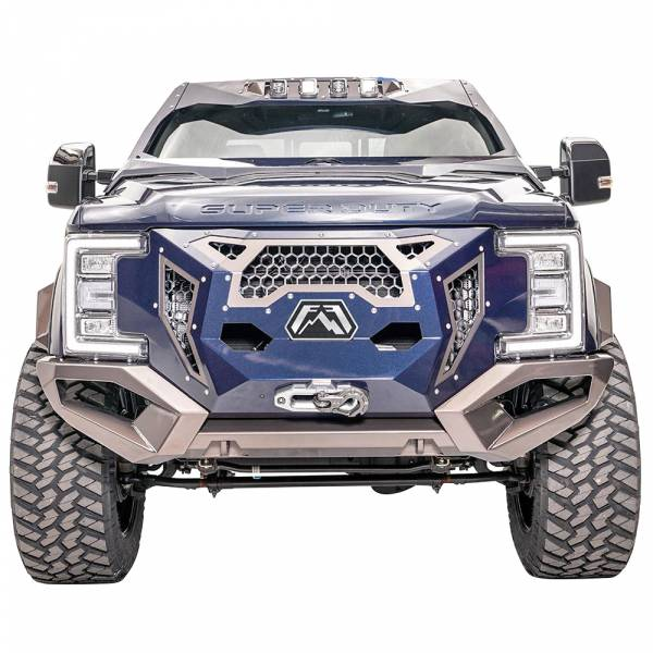 Fab Fours - Fab Fours GR4100-1 Grumper Front Bumper for Ford F350/F450/F550 2017-2019