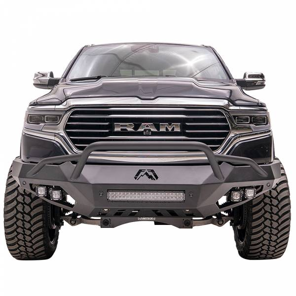 Fab Fours - Fab Fours DR19-D4252-1 Vengeance Front Bumper with Pre-Runner Guard and Sensor Holes for Dodge Ram 1500 2019-2020