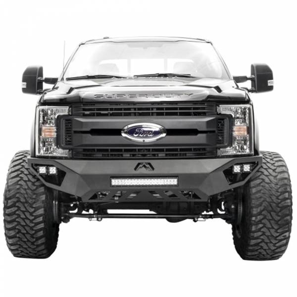 Fab Fours - Fab Fours DR16-V4061-1 Open Fender Front Bumper with Sensor Holes for Dodge Ram 2500/3500/4500/5500 2016-2018