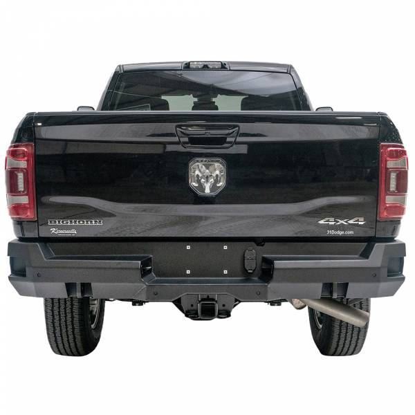 Fab Fours - Fab Fours DR19-W4451-1 Premium Rear Bumper with Sensor Holes for Dodge Ram 2500 HD/3500 HD 2019-2020 New Body Style