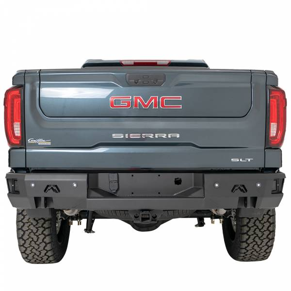 Fab Fours - Fab Fours CS19-W4051-1 Premium Rear Bumper with Blind Spot Monitor Mount and Sensor Holes for GMC Sierra 1500 2019