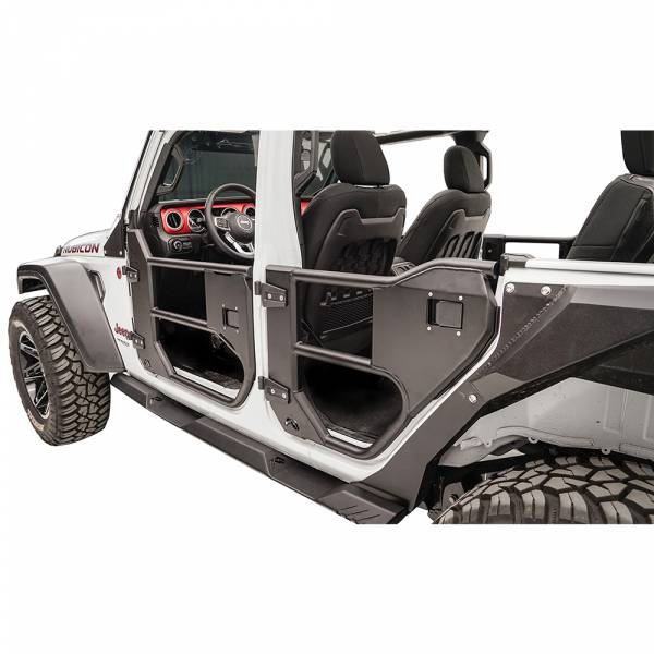 Fab Fours - Fab Fours JL1032-1 Front Half Tube Door for Jeep Gladiator JT 2018-2019