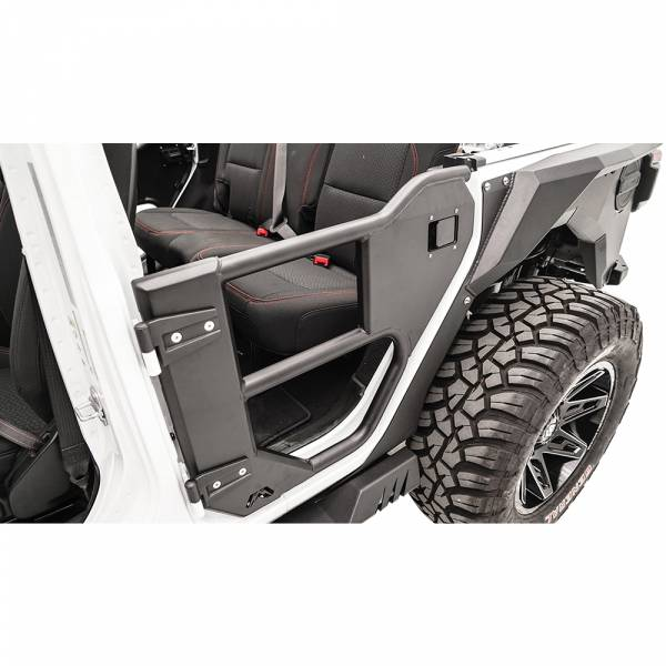 Fab Fours - Fab Fours JL1033-1 Rear Half Tube Door for Jeep Wrangler JL 2018-2020