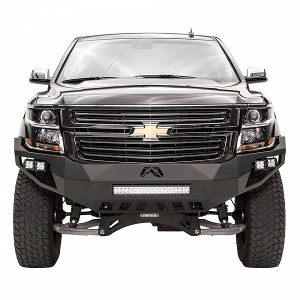 Fab Fours - Fab Fours CS15-D3551-1 Vengeance Front Bumper with Sensor Holes for Chevy Suburban 2015-2019