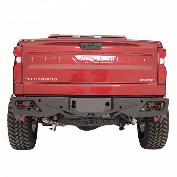 Fab Fours - Fab Fours CS19-E4051-1 Vengeance Rear Bumper with Sensor Holes for Chevy Silverado 1500 2019