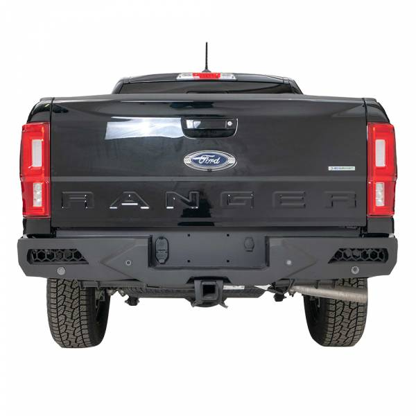 Fab Fours - Fab Fours FR19-E4851-1 Vengeance Rear Bumper with Sensor Holes for Ford Ranger 2019