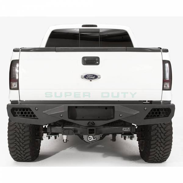 Fab Fours - Fab Fours FS08-E1351-1 Vengeance Rear Bumper with Sensor Holes for Ford Super Duty 2011-2016