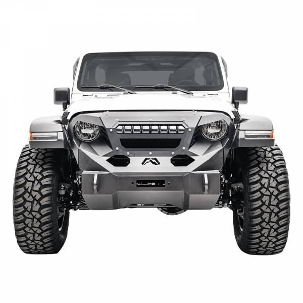 Fab Fours - Fab Fours GR4606-1 Grumper Light Bar Mount for Jeep Wrangler JL 2018-2020