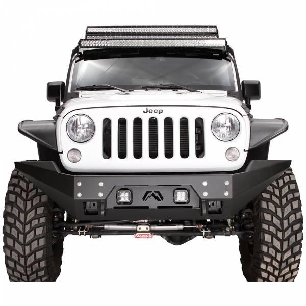 Fab Fours - Fab Fours JK07-B1857-1 FMJ Full Width Winch Front Bumper for Jeep Wrangler JK 2007-2018