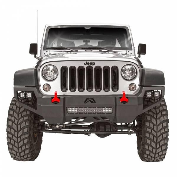 Fab Fours - Fab Fours JK07-D1851-1 Vengeance Front Bumper with Sensor Holes for Jeep Wrangler JK 2007-2018