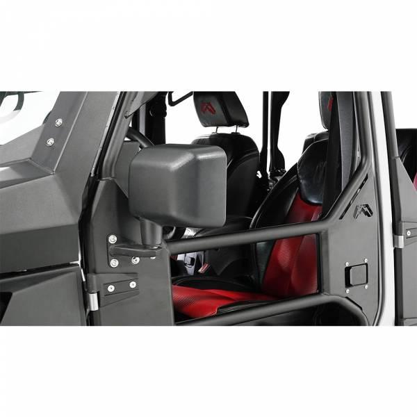 Fab Fours - Fab Fours JK1032-1 Tube Door Mirror Bracket for Jeep Wrangler JK 2007-2018