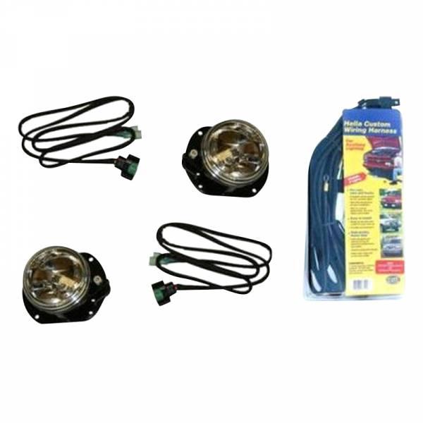 Fab Fours - Fab Fours JKST-LA JK Stubby Front Bumper Optional Fog Light Kit