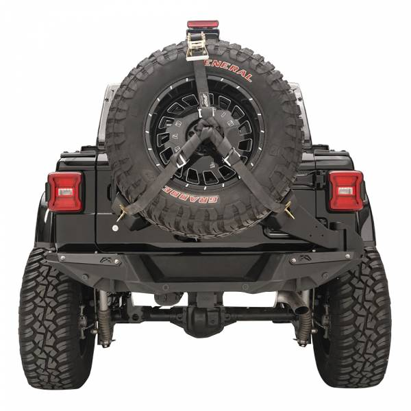 Fab Fours - Fab Fours JL2070-1 Slant Back Tire Carrier for Jeep Wrangler JL 2018-2020