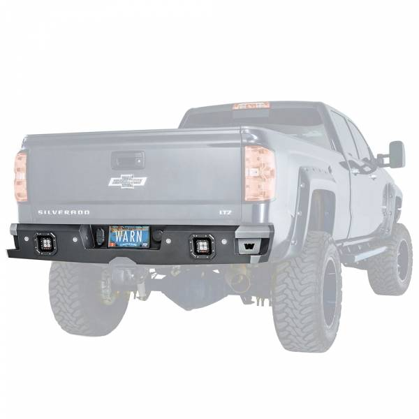 Warn 96550 Ascent Rear Bumper For Gmc Sierra 2500hd  3500hd