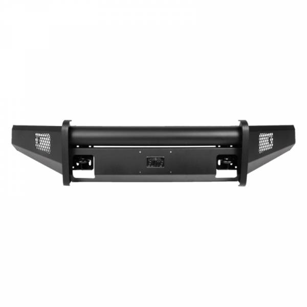 Fab Fours - Fab Fours CH08-Q2061-1 Black Steel Elite Smooth Front Bumper for Chevy Silverado 2500/3500 2007-2010