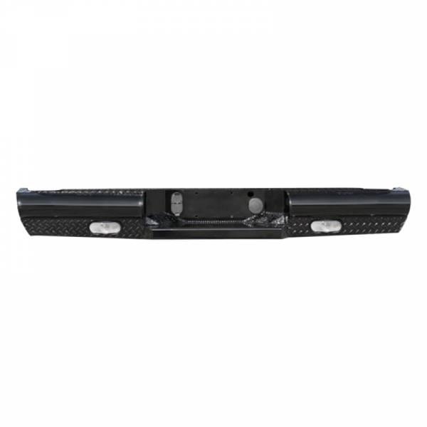 Fab Fours - Fab Fours CH99-T1250-1 Black Steel Rear Bumper for Chevy Silverado 2500HD/3500 1999-2007