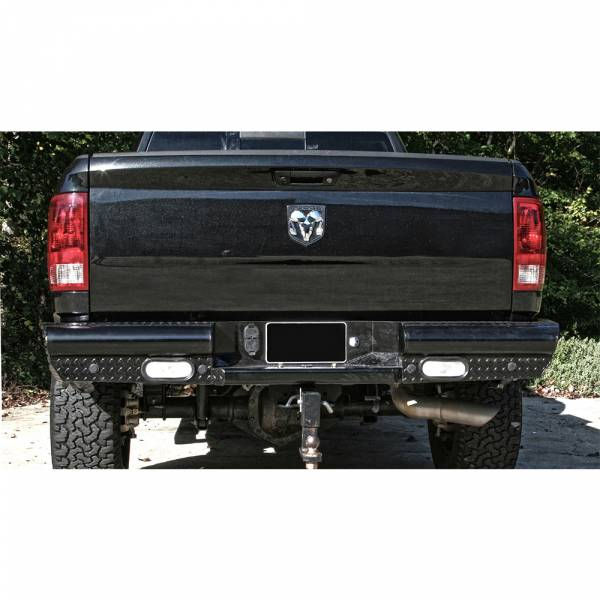 Fab Fours - Fab Fours DR10-T2950-1 Black Steel Rear Bumper for Dodge Ram 2500/3500 2010-2018