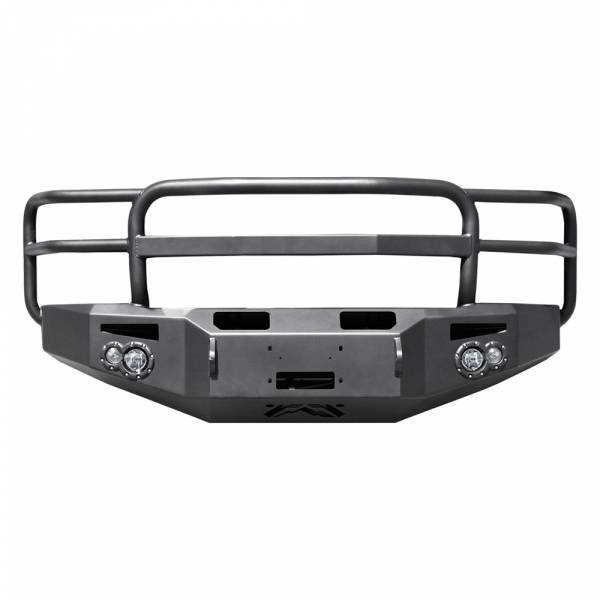 Fab Fours - Fab Fours CH14-C3050-1 Premium Winch Front Bumper with Grille Guard for Chevy Silverado 2500HD/3500 2015-2019
