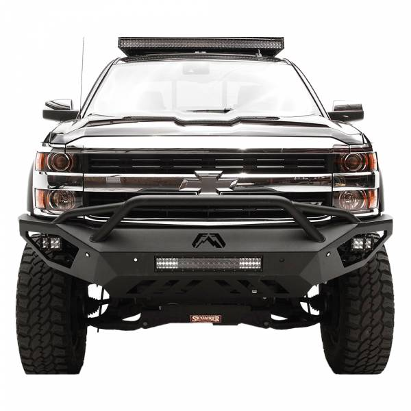 Fab Fours - fab Fours CH15-V3052-1 Vengeance Front Bumper with Pre-Runner Guard for Chevy Silverado 2500 HD/3500 HD 2015-2019