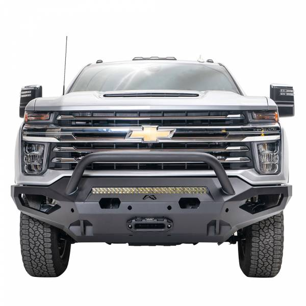 Fab Fours - Fab Fours CH15-X2752-1 Matrix Front Bumper with Pre-Runner Guard for Chevy Silverado 2500 HD/3500 HD 2015-2019