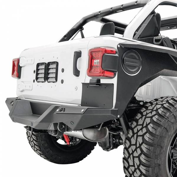 Fab Fours - Fab Fours M4550-1 Rear Bumper License Plate Bracket for Jeep Wrangler JL 2018-2020
