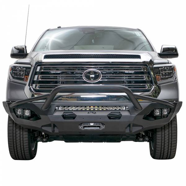 Fab Fours - Fab Fours TT14-X3852-1 Matrix Front Bumper with Pre-Runner Guard for Toyota Tundra 2014-2019