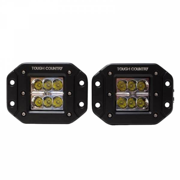Tough Country - Tough Country Torch2x2 Flush Mount LED Cube Light - Pair