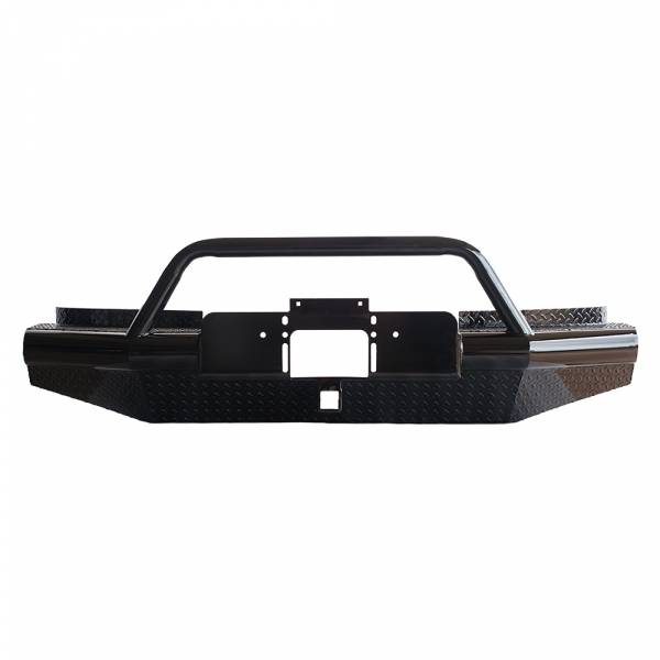 Tough Country - Tough Country AFR0020GLSMBW Apache Winch Front Bumper with Bull Bar for GMC Sierra 2500/3500 2001-2002