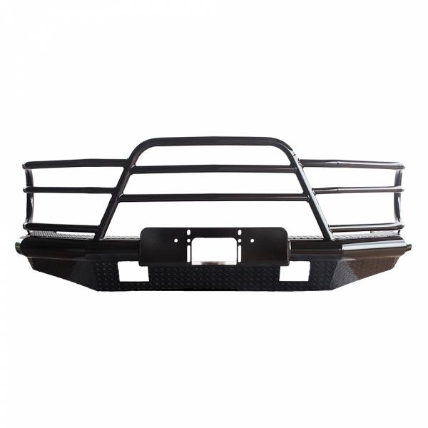 Tough Country - Tough Country DFR0016GLFSMW Deluxe Winch Front Bumper for GMC Sierra 2500/3500 2001-2002